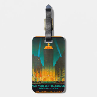 New York Central Building Tag For Luggage