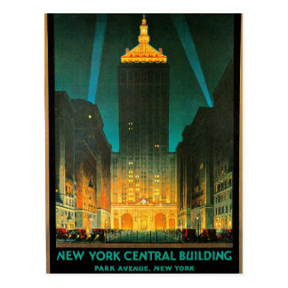 New York Central Building Travel Art Postcard