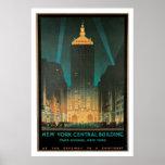 New York Central Building Vintage Travel Poster
