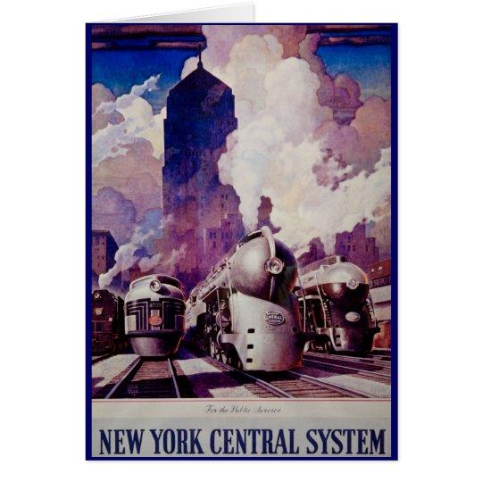 New York Central Line - Vintage Ad Card