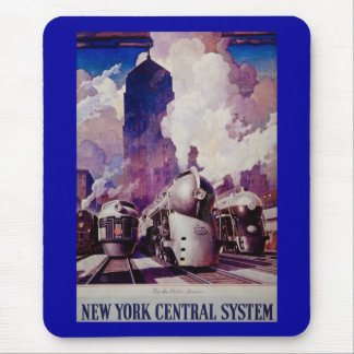 New York Central Line - Vintage Ad Mouse Pad