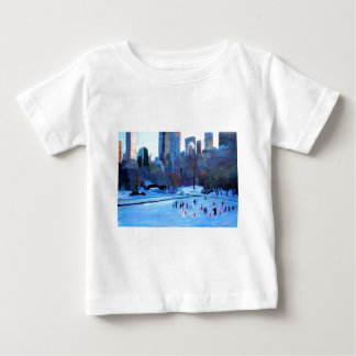 New York Central Park Ice And Winter In Manhattan Baby T-Shirt
