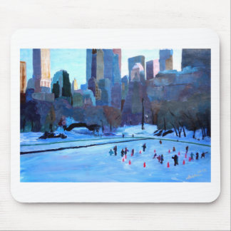 New York Central Park Ice And Winter In Manhattan Mouse Pad