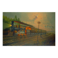 New York Central Railroad 1884 Print