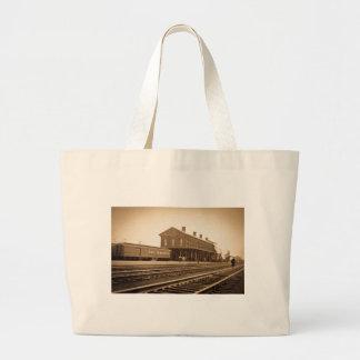 New York Central Railroad Depot Vintage Large Tote Bag