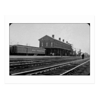 New York Central Railroad Depot Vintage Postcard