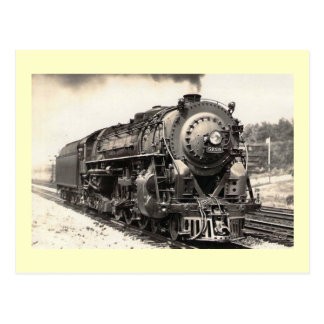 New York Central RR, Steam Locomotive Vintage Postcard