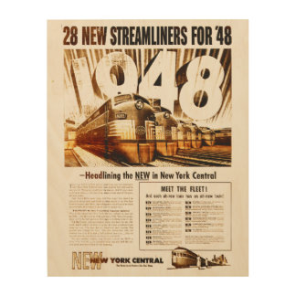New York Central Streamliners 1948 Wood Print
