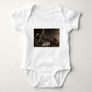 New York Central Vintage Art  Deco Train Baby Bodysuit