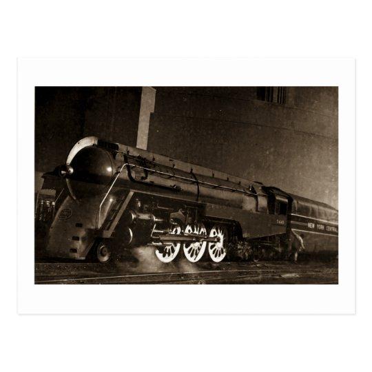 New York Central Vintage Art  Deco Train Postcard