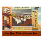 New York, China Garden Restaurant Post Card