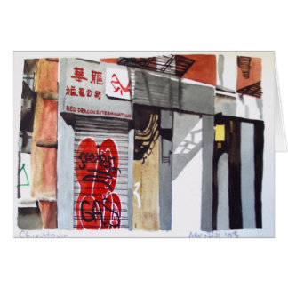 New York Chinatown greeting card