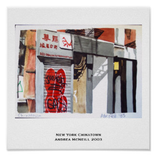 New York Chinatown Print