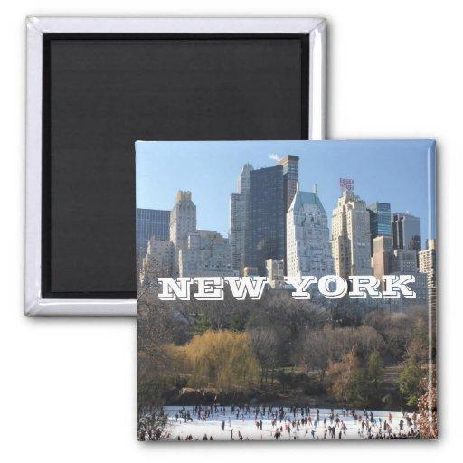 NEW YORK CHRISTMAS FRIDGE MAGNETS