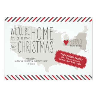 New York Christmas Moving Announcement Holiday