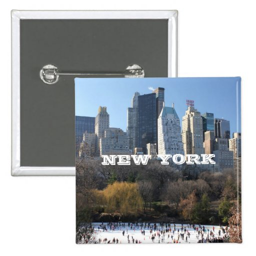 NEW YORK CHRISTMAS PINBACK BUTTON