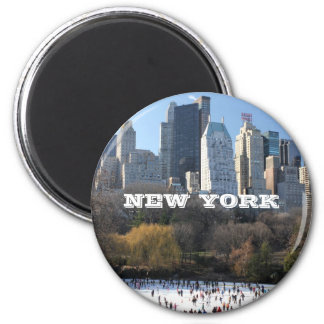 NEW YORK CHRISTMAS REFRIGERATOR MAGNETS