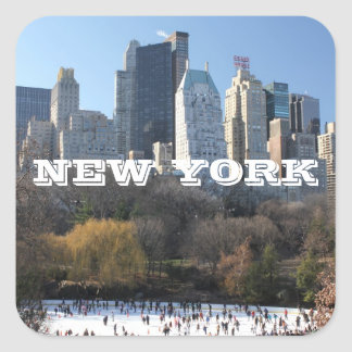 NEW YORK CHRISTMAS SQUARE STICKERS