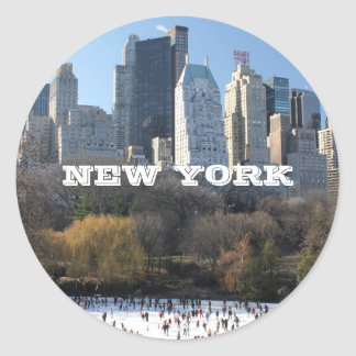 NEW YORK CHRISTMAS STICKER