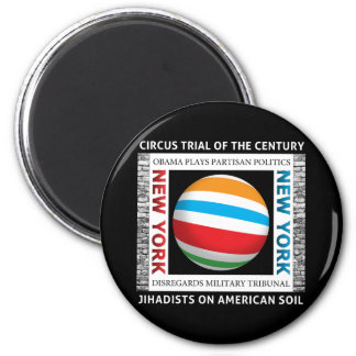 New York Circus Trial 2 Inch Round Magnet