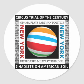 New York Circus Trial Classic Round Sticker