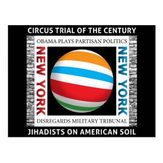 New York Circus Trial Postcard