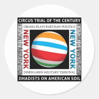 New York Circus Trial Classic Round Sticker