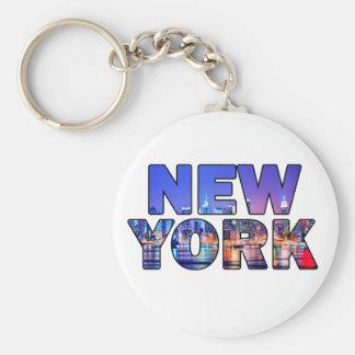 New York City 012 Llavero Redondo Tipo Pin