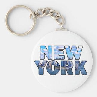New York City 013 Llavero Redondo Tipo Pin