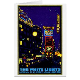 New York City 1925 en la noche Felicitaciones