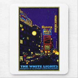 New York City 1925 en la noche Alfombrillas De Raton