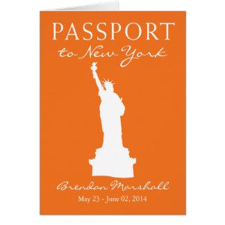 New York City 21ST Birthday Passport Note Card