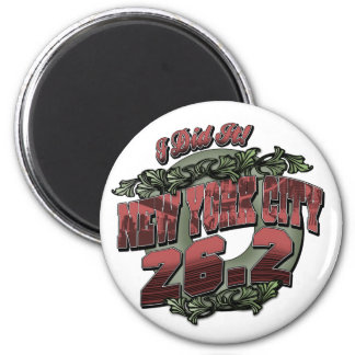 New York City 26.2 2 Inch Round Magnet