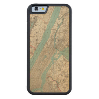 New York City 2 Carved Maple iPhone 6 Bumper Case
