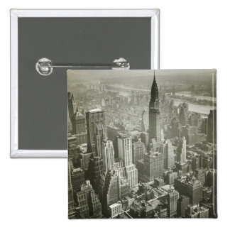 New York City 2 Inch Square Button