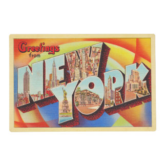 New York City #2 NY Large Letter Travel Postcard - Placemat