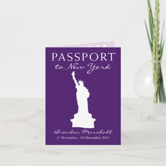 New York City 40th Birthday Passport Invitation