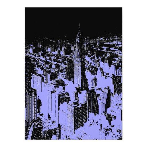 New York City 5,5 x invitación 6,5