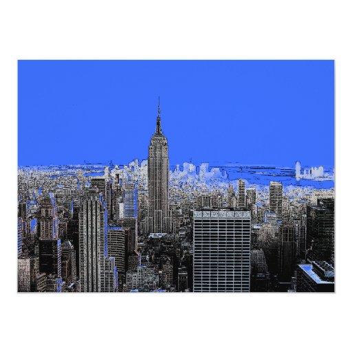 New York City 5,5 x invitación 6,5 Invitación 13,9 X 19,0 Cm