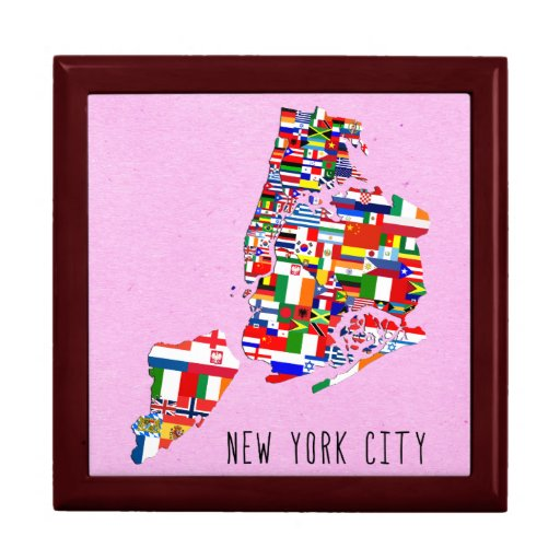 New york city 5 boroughs flags gift box jewelry zazzle for Gifts for new yorkers