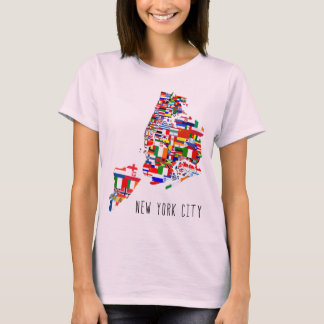 New York City 5 Boroughs Flags T-Shirt