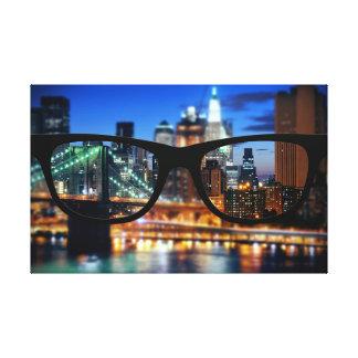 New York City a través de los vidrios de Sapio Impresión En Lienzo