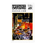 New York City Abstract Theatre District Stamps