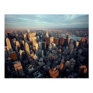 New York City Aerial View Chrysler Building Spire Postcard