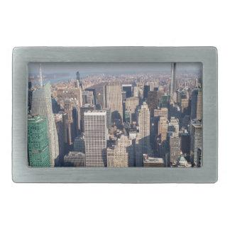 New York City Aerial View Rectangular Belt Buckle