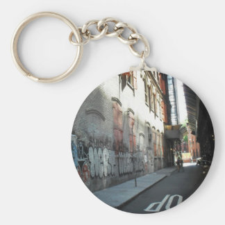 New York City Alley on a Summer Day Basic Round Button Keychain