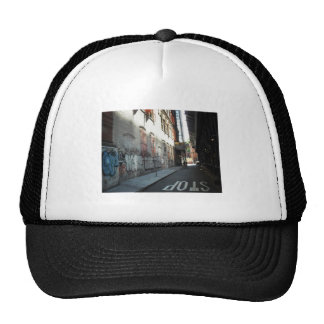 New York City Alley on a Summer Day Mesh Hats