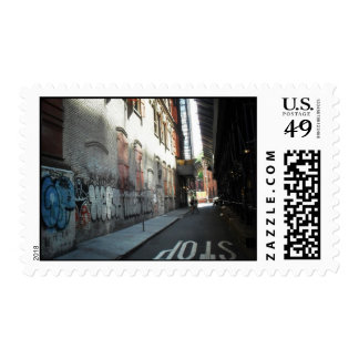 New York City Alley on a Summer Day Postage