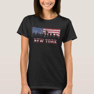 New York City American Flag Skyline T-Shirt