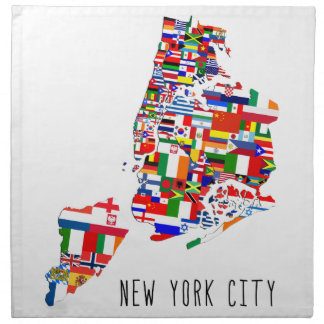 New York City Ancestry Flags Design Napkins